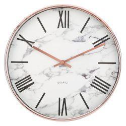 Sentio Стенен часовник White-Marble пластмасов 8c8a46139be